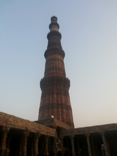 The beautiful Qutub Minar