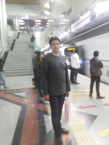 Delhi's Metro Train Station